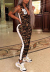 Casual Camouflage Sports Jumpsuit