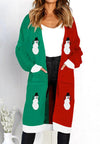 Women's Christmas Autumn Winter Pocket Sweater