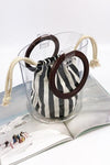 Trendylov Casual PVC Canvas Sheer Bag