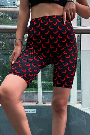Trendylov Sporty High Rise Geometric Print Bike Shorts