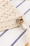 Trendylov Bohemian Tassels Trim Cotton Rope Bag