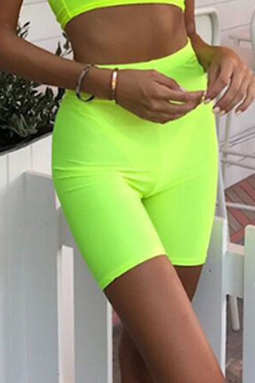 Suolory Sporty High Rise Yoga Biker Shorts
