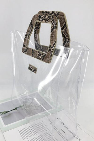 Trendylov Casual Animal Print PVC Bag