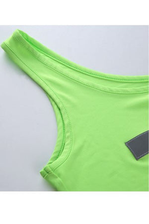 Trendylov Sporty Asymmetrical Reflective Bag Buckle Camisole
