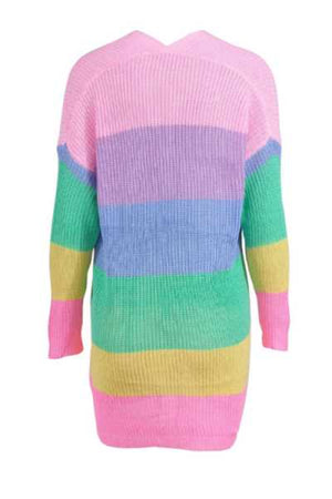 Trendylov Casual Color Patchwork Sweater