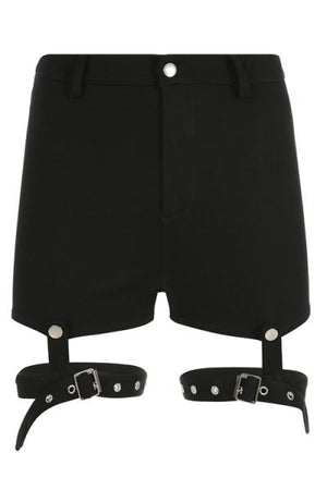 Trendylov Street Buckle Hollow Out Removable Shorts