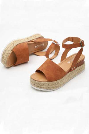 Trendylov Casual Hemp Rope Thick Bottom Fish Mouth Sandals