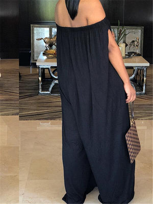 One-Shoulder Casual Jumpsuit
