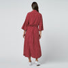 Red Dot Chiffon Long Beach Cover Up Women Dresses Robe Plage Bikini Cover-up Beachwear