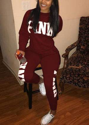 Printed Fashion Personality Casual Sports Suit