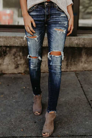 Trendylov Casual Distressed Jeans