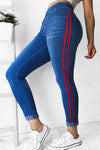 Trendylov Casual Side Striped Jeans
