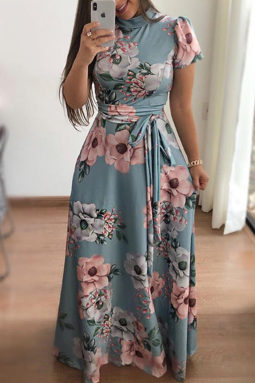 Trendylov Casual Floral Print Maxi Dress