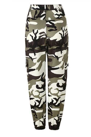 Trendylov Casual Frock Style Camouflage Print Jeans