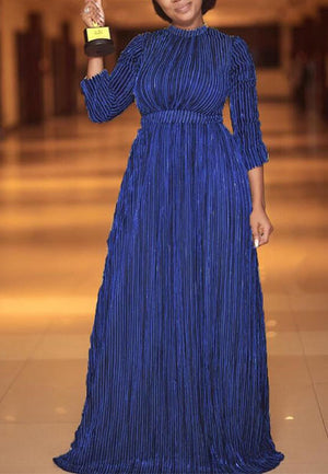 High Waist Pleated Long Dress
