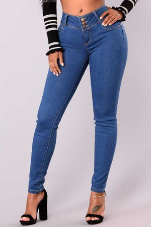 Trendylov Casual Button Up Jeans