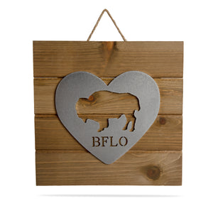Buffalo Heart Wall Art