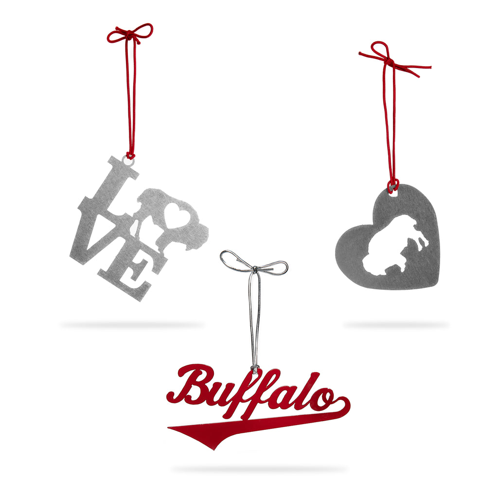 "Buffalove ""3 Pack"" Ornaments"