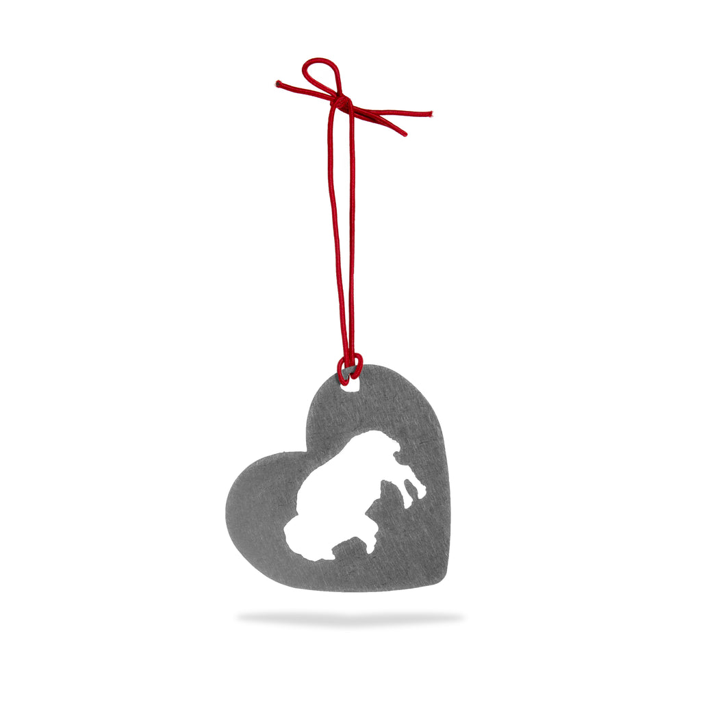 Buffalo Heart Ornament