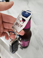 BUF Bottle Opener Keychain