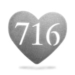 716 Heart Metal Magnet