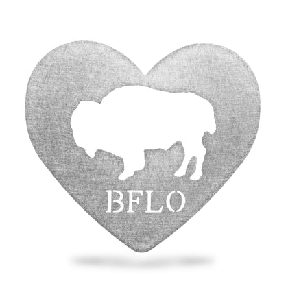 Buffalo Heart Metal Magnet