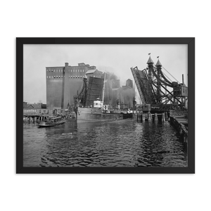 Lifting Bridge c1905 Framed Poster