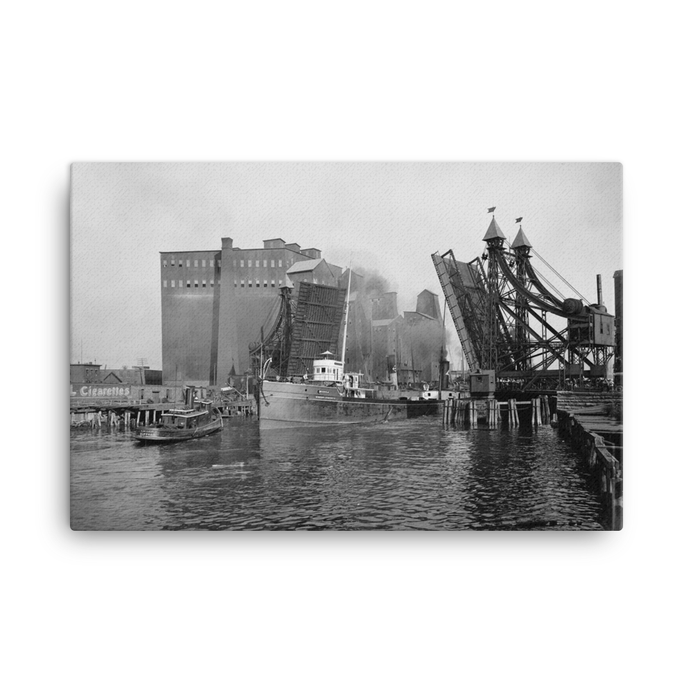 Lifting Bridge c1905 Canvas