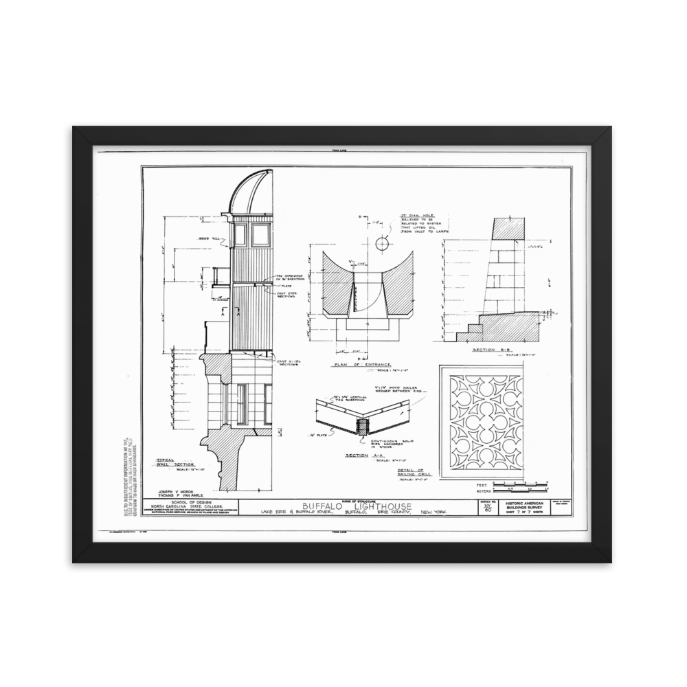 Buffalo Lighthouse Framed poster