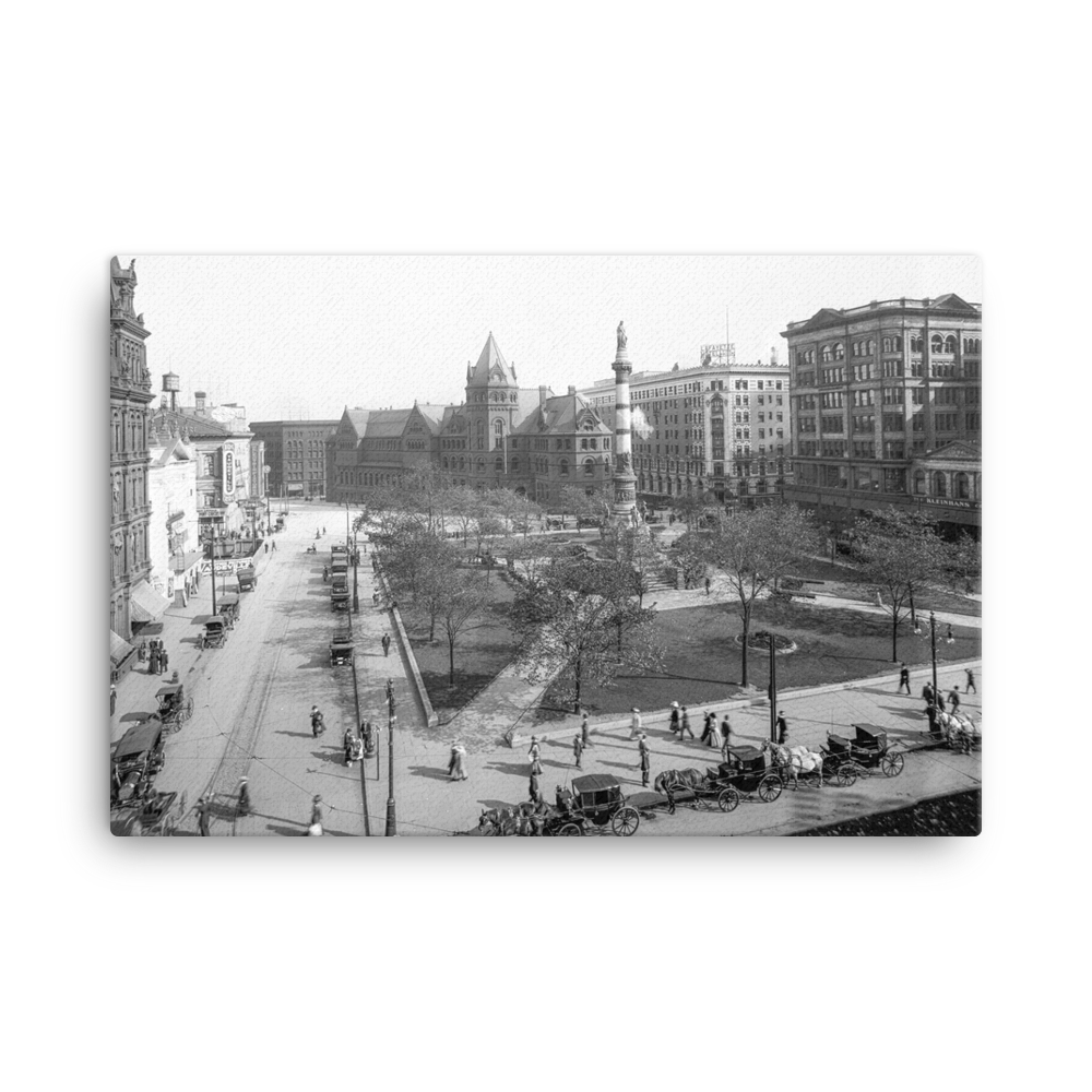 Larkin Square c1905 Canvas