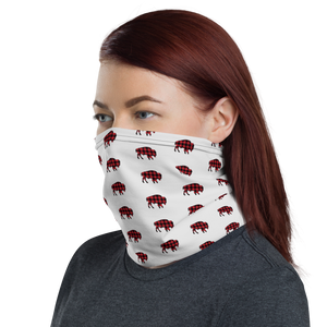 Plaid Bison Face Mask
