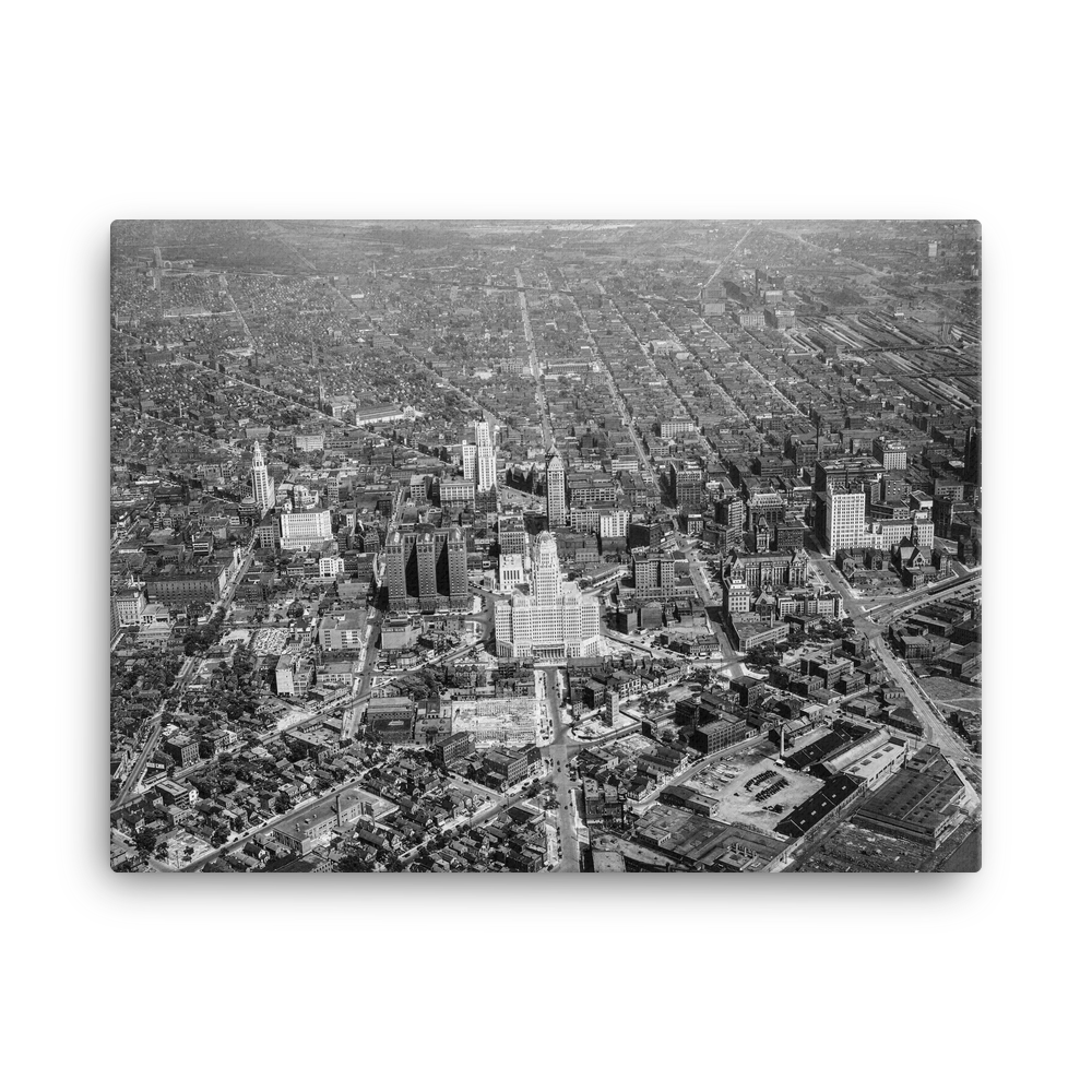 City Hall 1939 Canvas