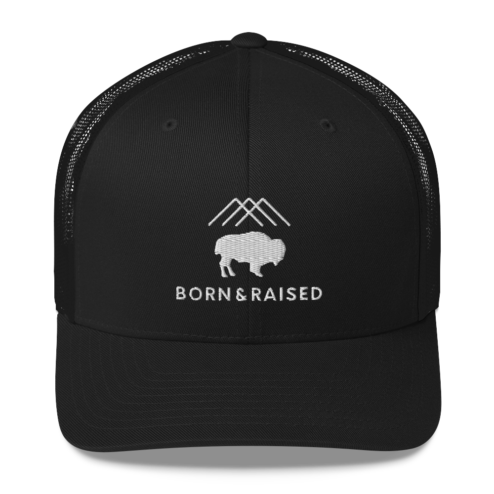 Born & Raised [3D PUFF] Trucker Cap