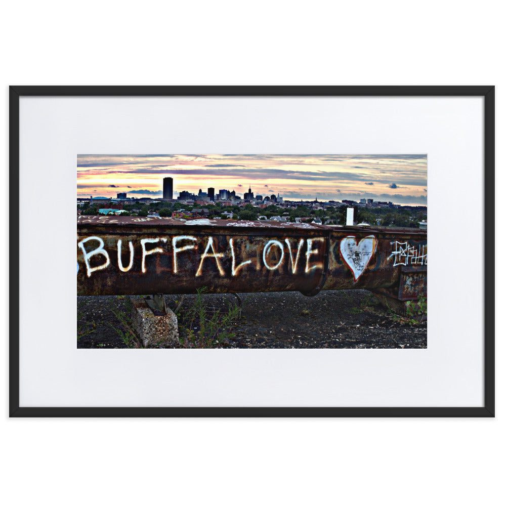 Buffalove Beam Framed Poster With Mat