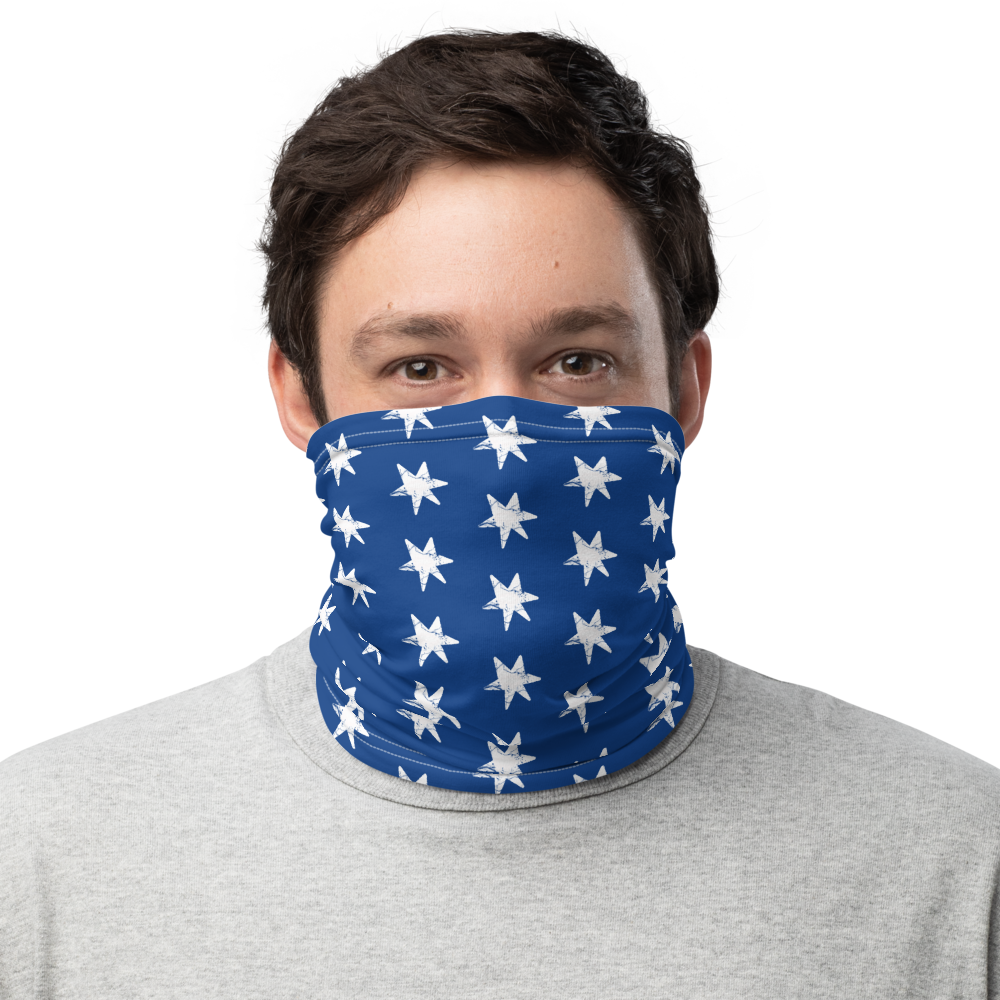 Blue Stars Face Mask