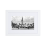 Electric Tower White c1901 Matte Paper Framed Poster With Mat