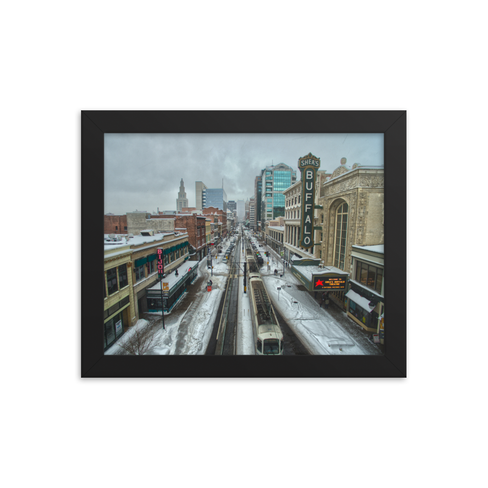 HDR Main St. Buffalo Framed Poster