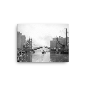 Michigan St. Bridge c1905 Canvas