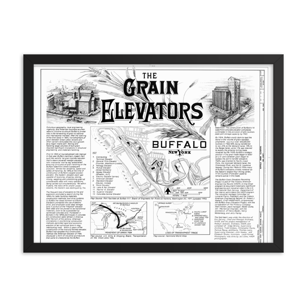 The Grain Elevators Framed Poster