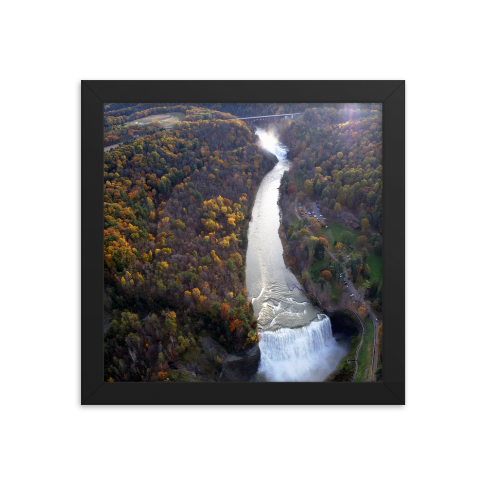 Letchworth State Park Fall Framed poster