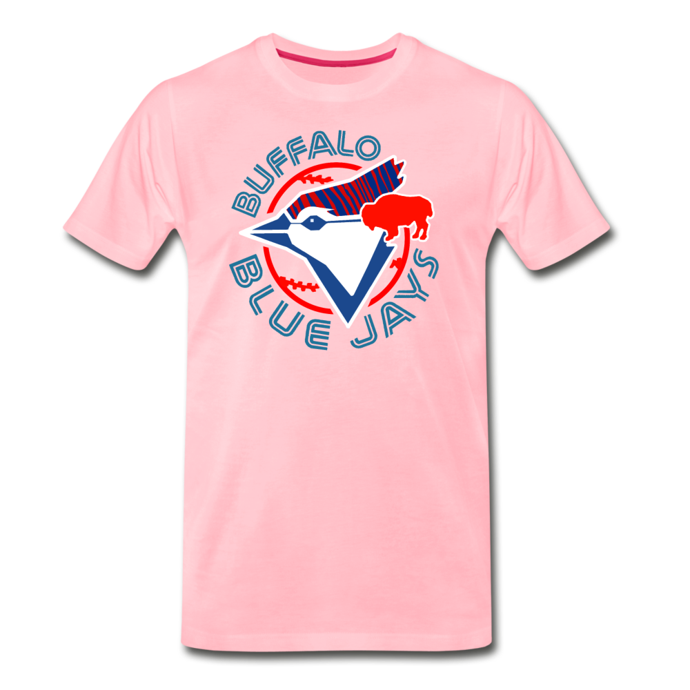 Men's Buffalo Baseball Premium T-Shirt - pink