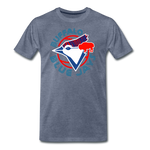 Men's Buffalo Baseball Premium T-Shirt - heather blue