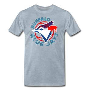 Men's Buffalo Baseball Premium T-Shirt - heather ice blue