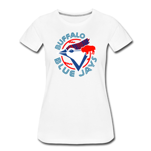 Women's Buffalo Baseball Premium T-Shirt - white