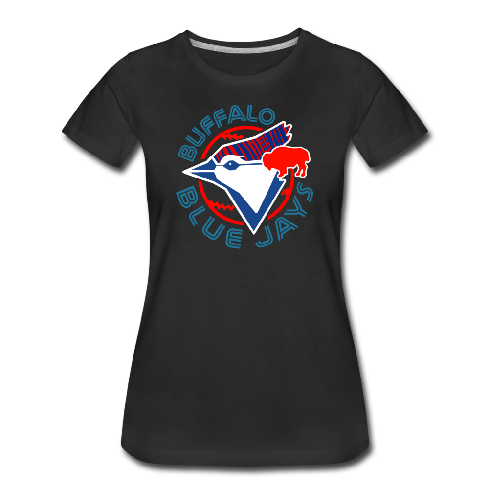 Women's Buffalo Baseball Premium T-Shirt - black