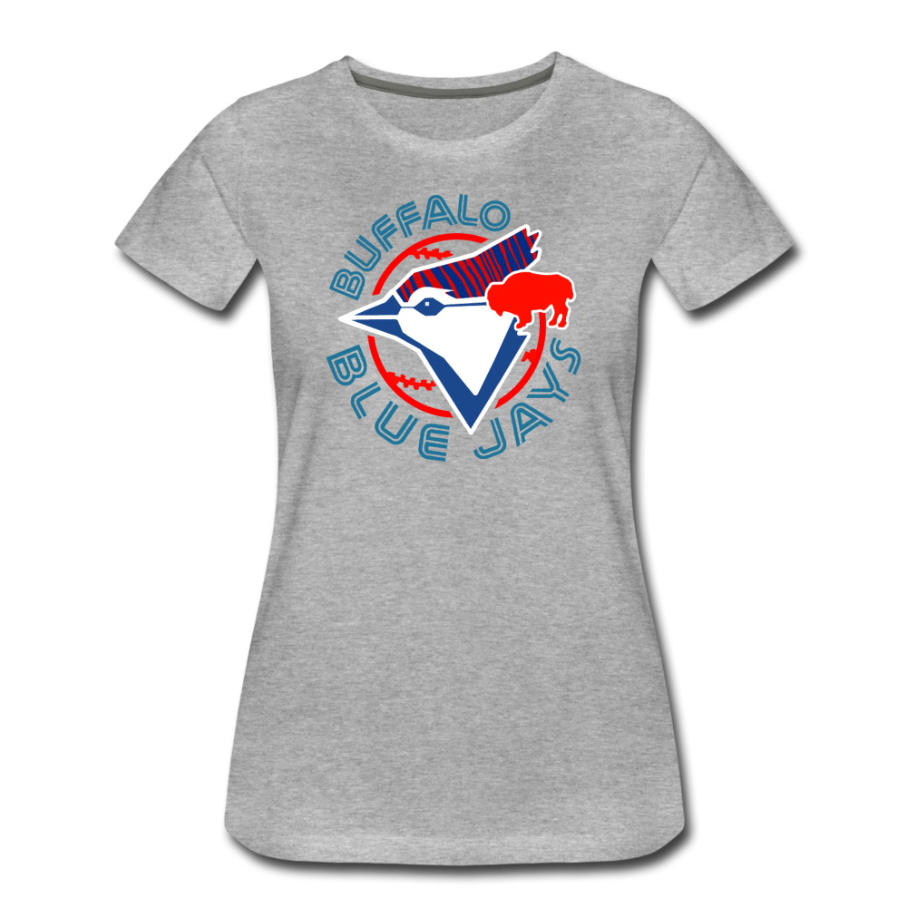 Women's Buffalo Baseball Premium T-Shirt - heather gray
