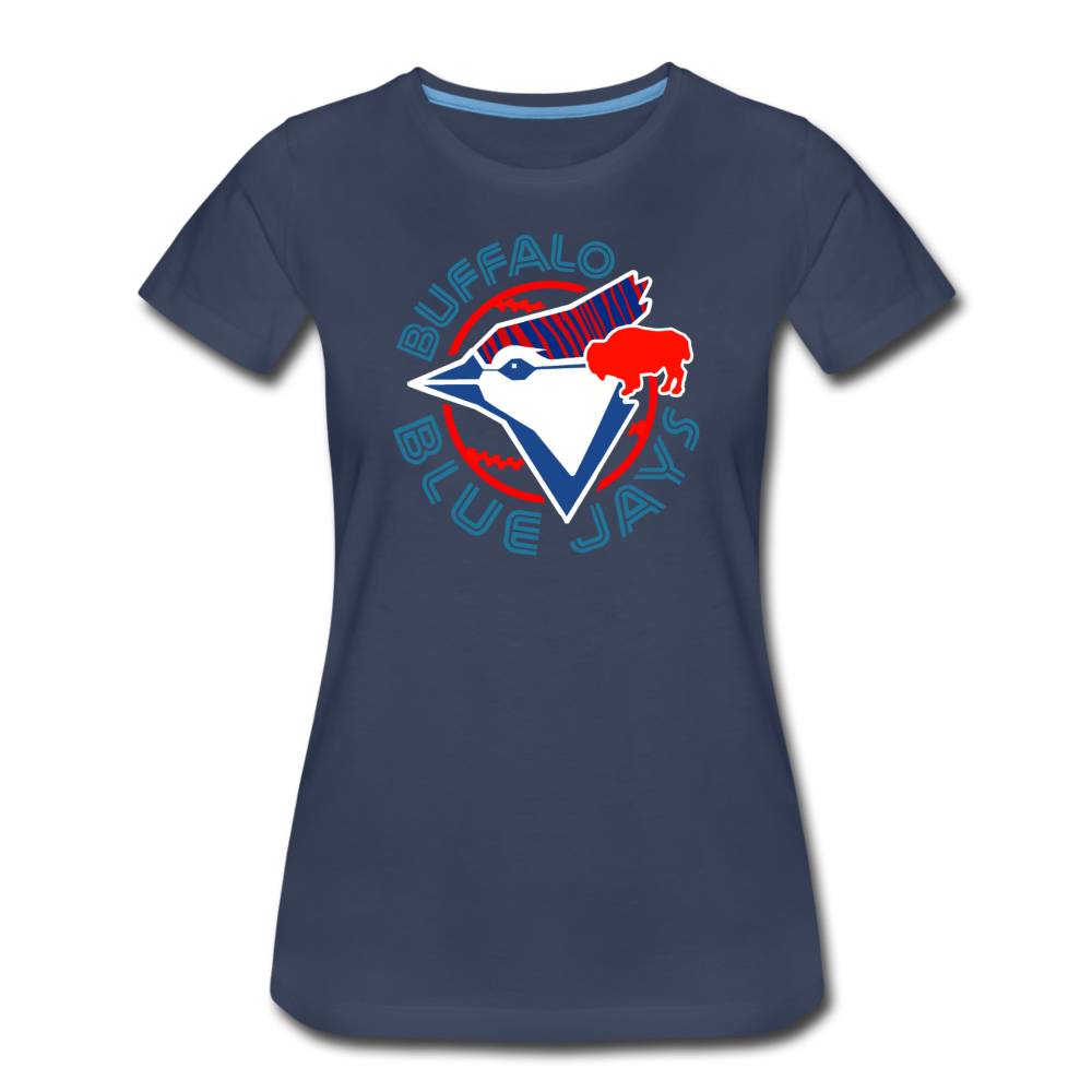 Women's Buffalo Baseball Premium T-Shirt - navy