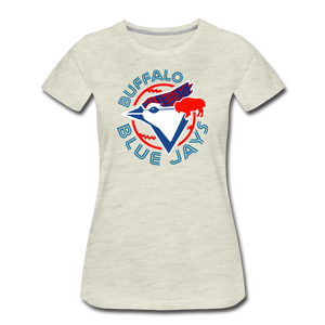 Women's Buffalo Baseball Premium T-Shirt - heather oatmeal