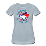 Women's Buffalo Baseball Premium T-Shirt - heather ice blue