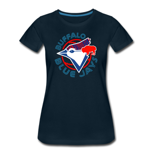 Women's Buffalo Baseball Premium T-Shirt - deep navy